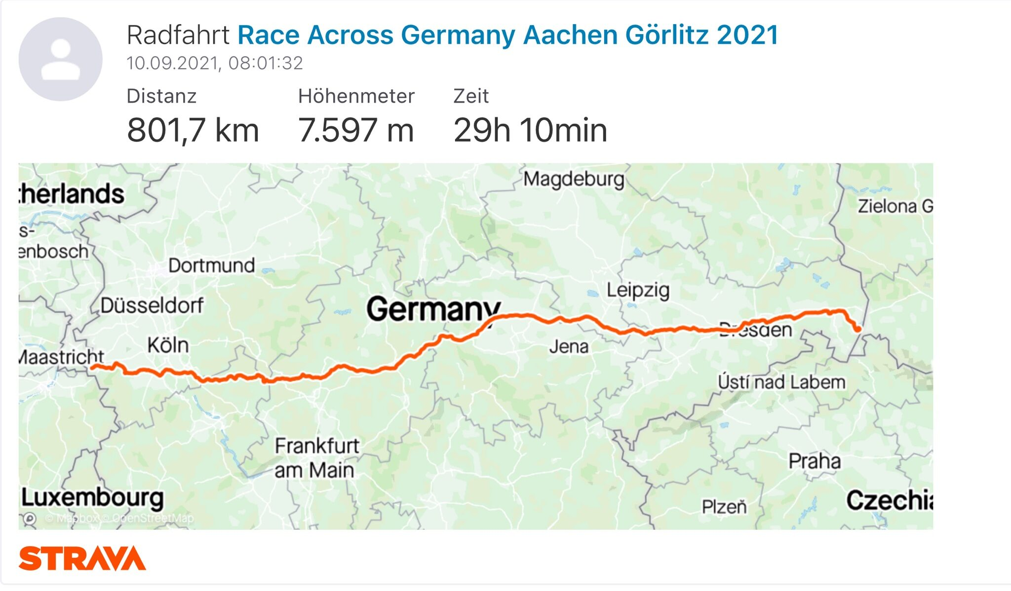 You are currently viewing Race Across Germany, the report
